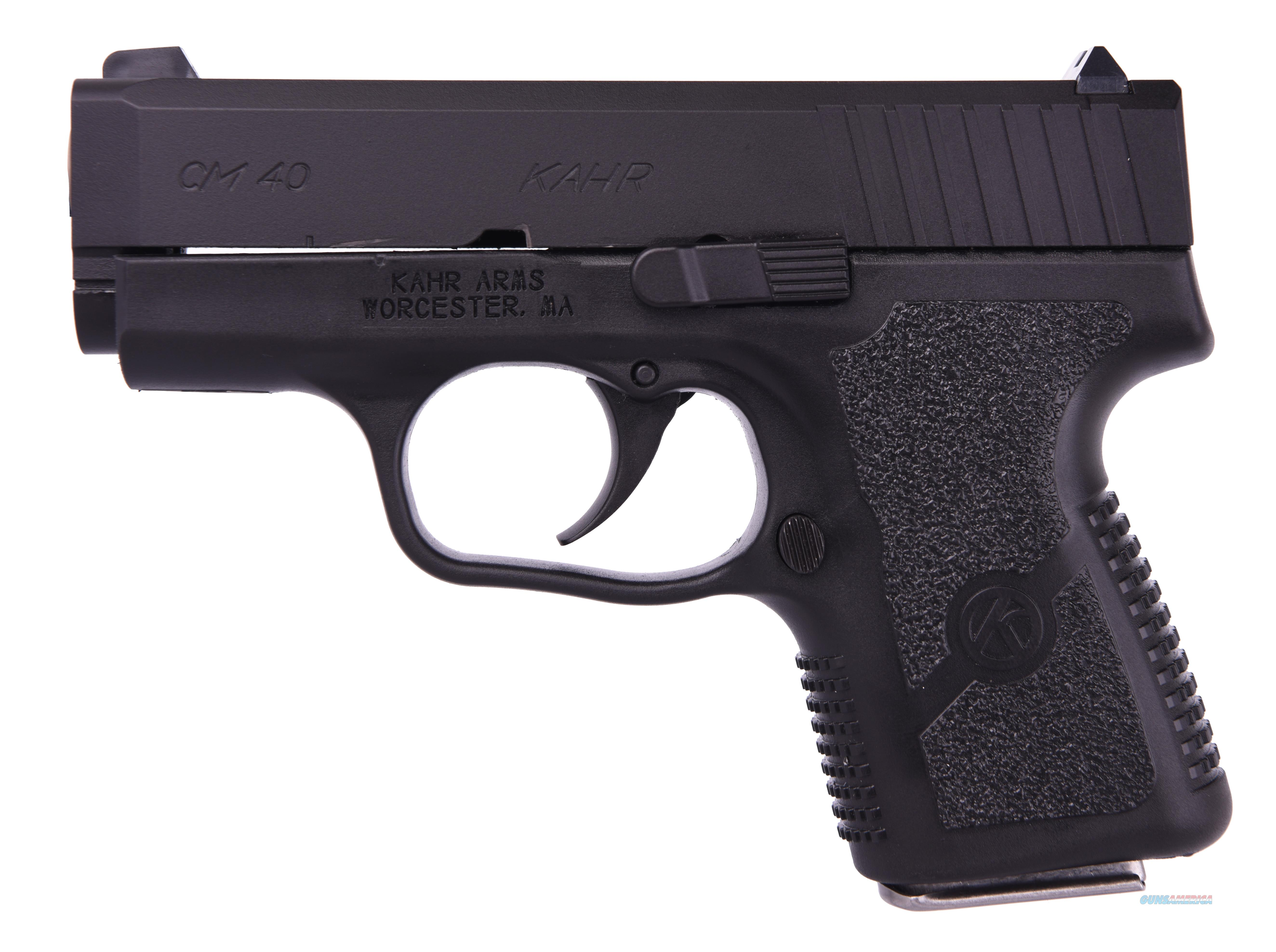 Kahr Arms CM40 40SW BLK/BLK 5+1 3 W/ONE MAG  PINNED FRONT SITE  Guns > Pistols > K Misc Pistols