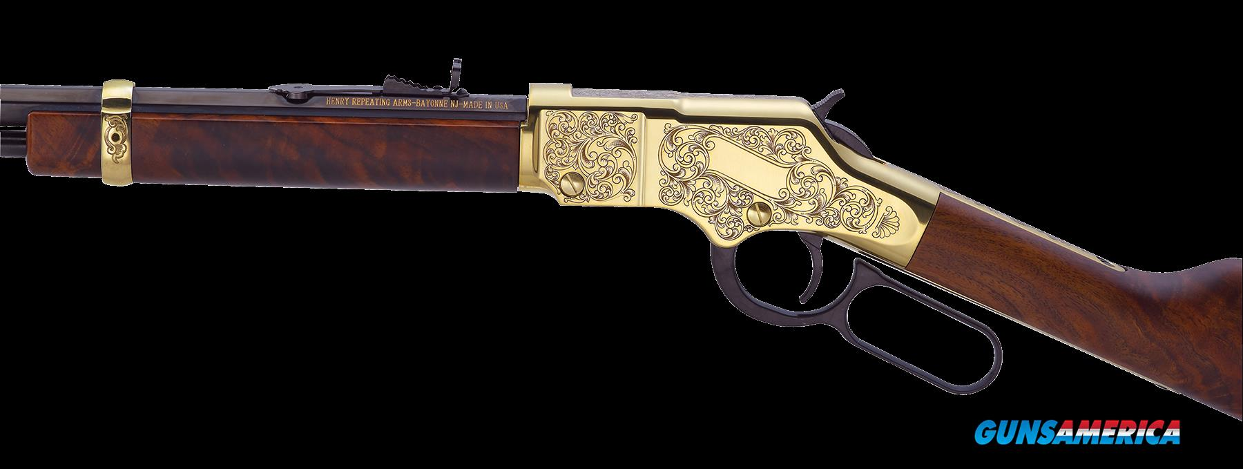 "Henry H004D3 Golden Boy Deluxe Engraved 3rd Ed  22 Long Rifle 20.0"" 16+1 Gold  Guns > Rifles > Henry Rifle Company"