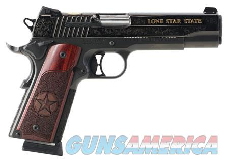 "Sig Sauer 191145TXG 1911 Texas Engraved Gold 45 ACP Single 5"" 8+1 Redwood Grip Black Nitron  Guns > Pistols > Sig - Sauer/Sigarms Pistols > 1911"