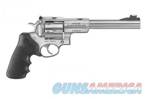 Ruger SPR REDHAWK 44MAG SS 7.5 FOS 5520/GREEN HI-VIZ SGTS W/RINGS  Guns > Pistols > Ruger Double Action Revolver > Redhawk Type