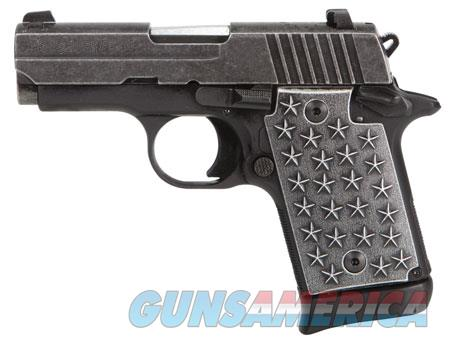 "Sig Sauer 9389WTP P938 We The People Single 9mm Luger 3"" 7+1 CS Distressed Aluminum Grip Black Hard  Guns > Pistols > S Misc Pistols"
