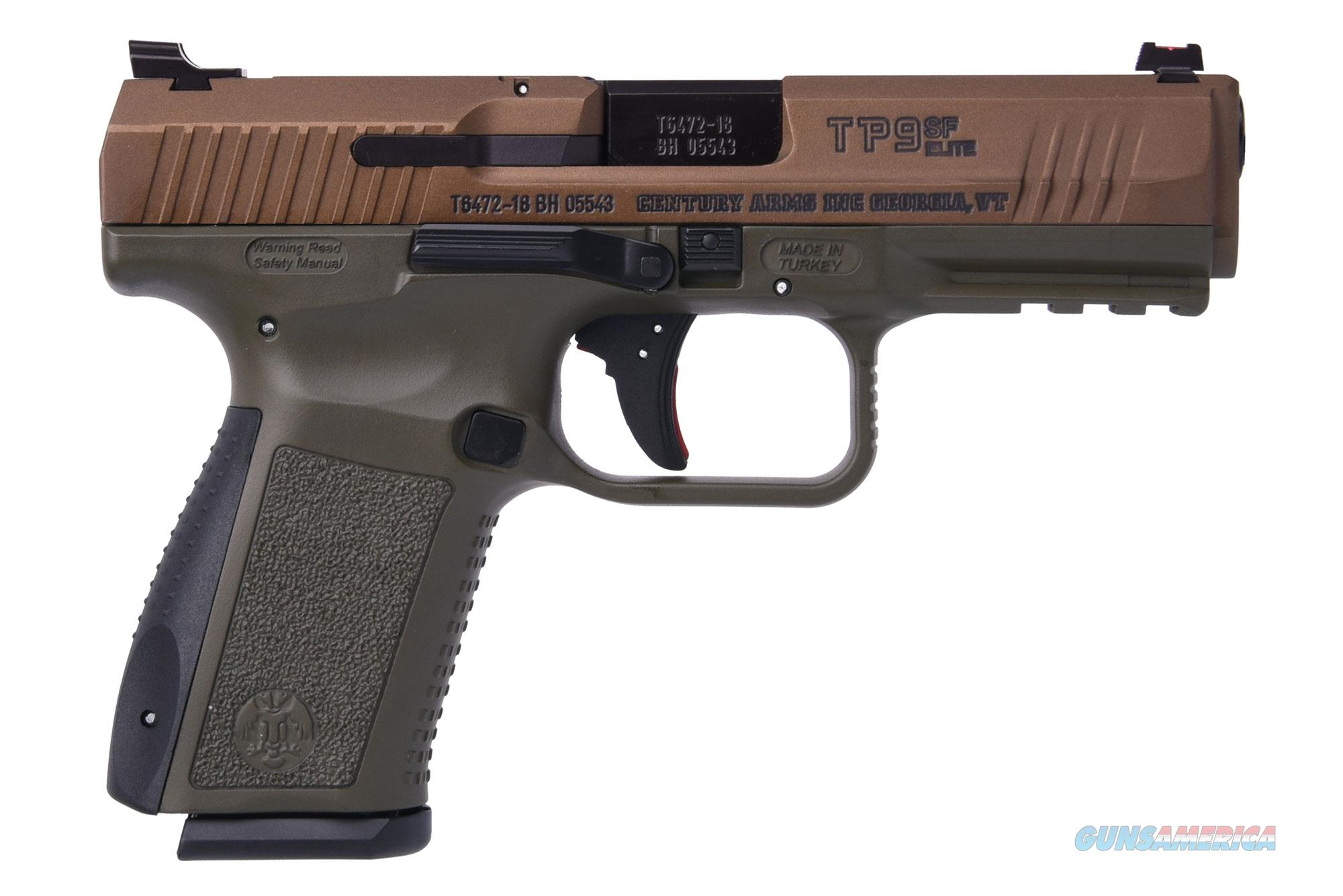 CANIK CANIK TP9SF ELITE 9MM BRNZ/OD 15+1 | BURNT BRONZE SLIDE  Guns > Pistols > C Misc Pistols