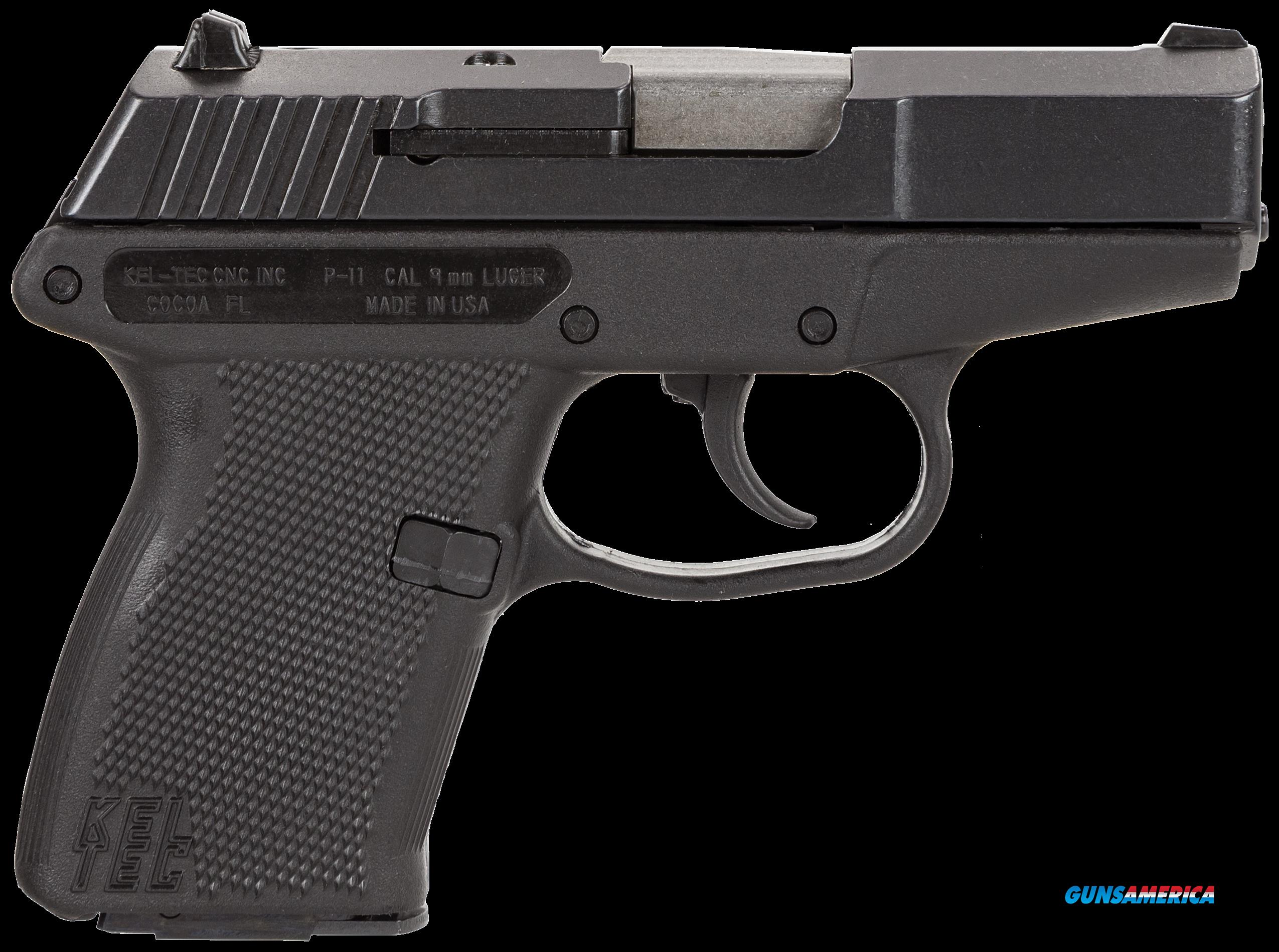 "Kel-Tec P11BBLK P-11 9mm 3.1"" 10+1 Black Polymer Grip Blued Finish  Guns > Pistols > Kel-Tec Pistols > Pocket Pistol Type"