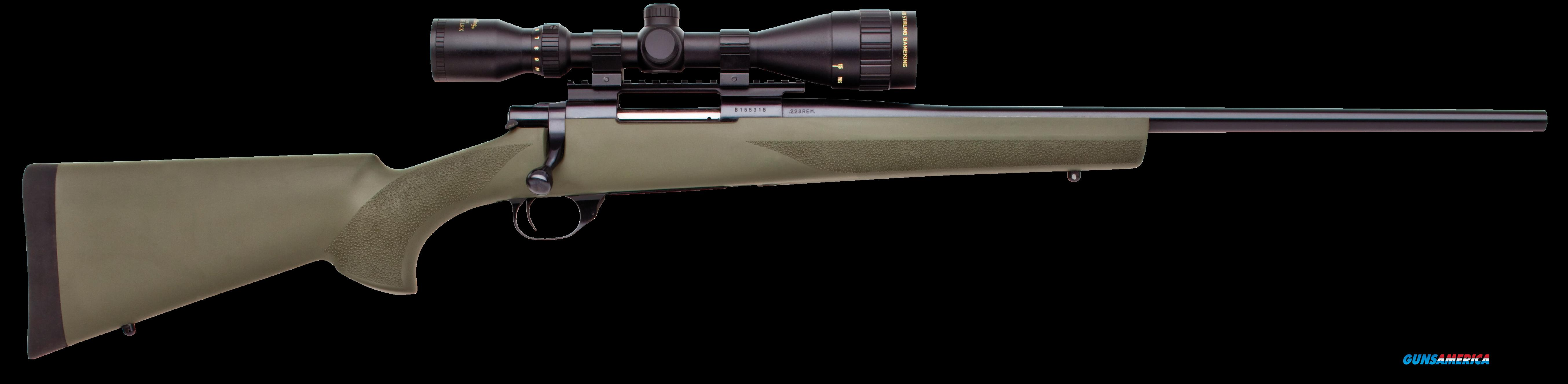 "Howa HGT90228+ Hogue Targetmaster Scope Package Bolt 223 Remington 20"" HB 5+1 Hogue Overmolded Green  Guns > Rifles > Howa Rifles"