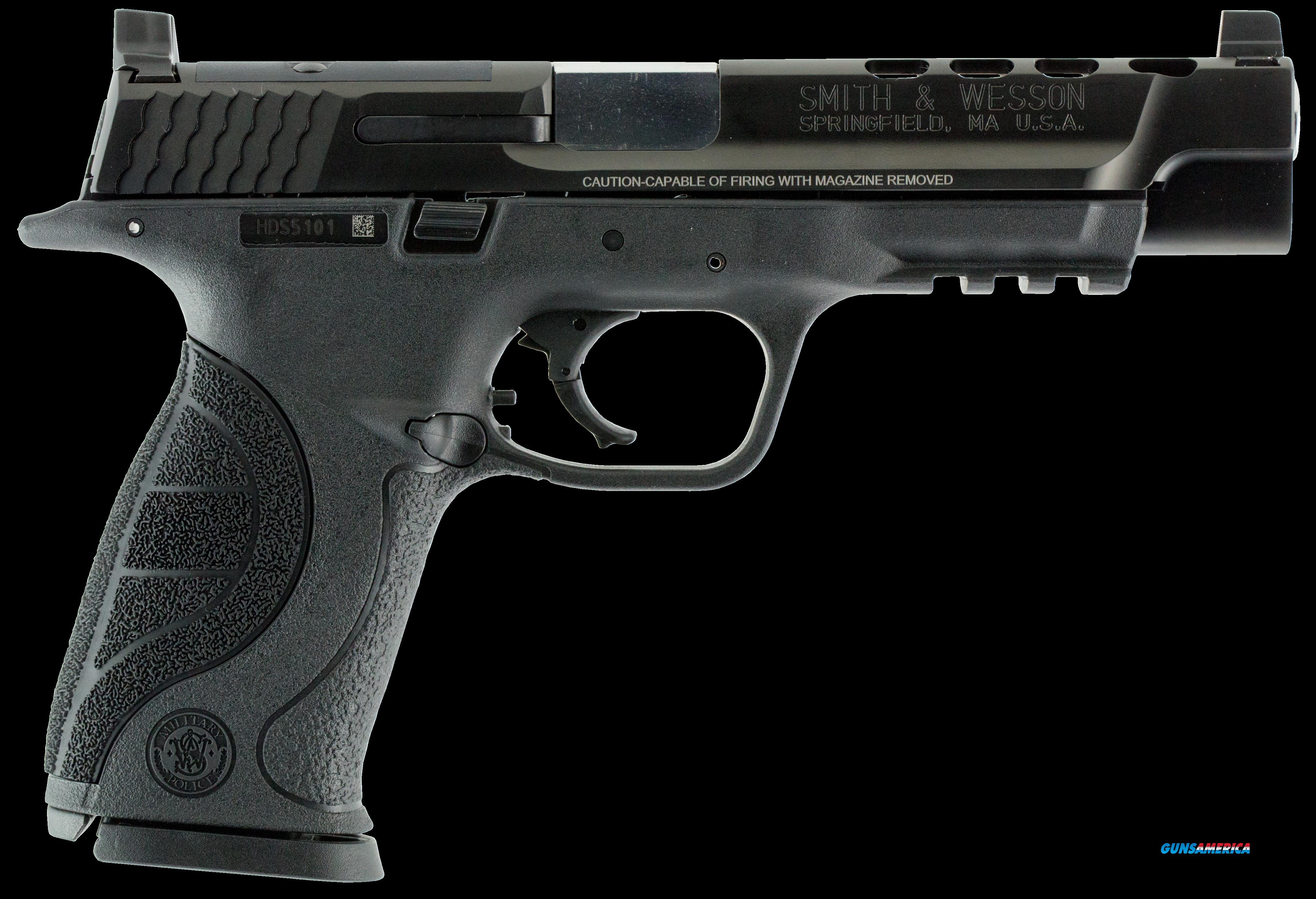 "Smith & Wesson 10098 M&P 9 Double 9mm Luger 5"" Ported 17+1 Black Interchangeable Backstrap Grip  Guns > Pistols > S Misc Pistols"