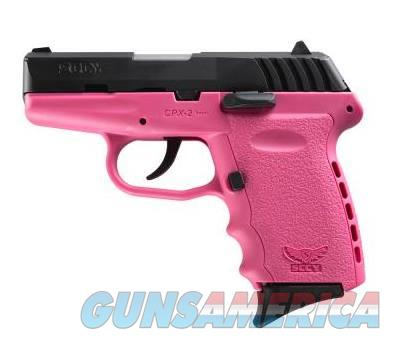 SCCY Industries CPX-2 9MM BLK/PINK 10+1 PINK POLYMER FRAME|NO SAFETY  Guns > Pistols > S Misc Pistols