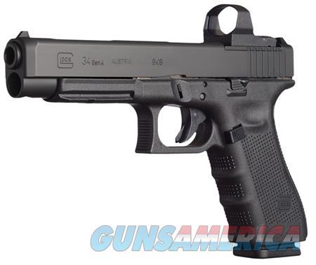 "Glock UG3430101MOS G34 Gen4 Competition MOS Double 9mm Luger 5.31"" 10+1 AS Black Interchangeable  Guns > Pistols > Glock Pistols > 34"