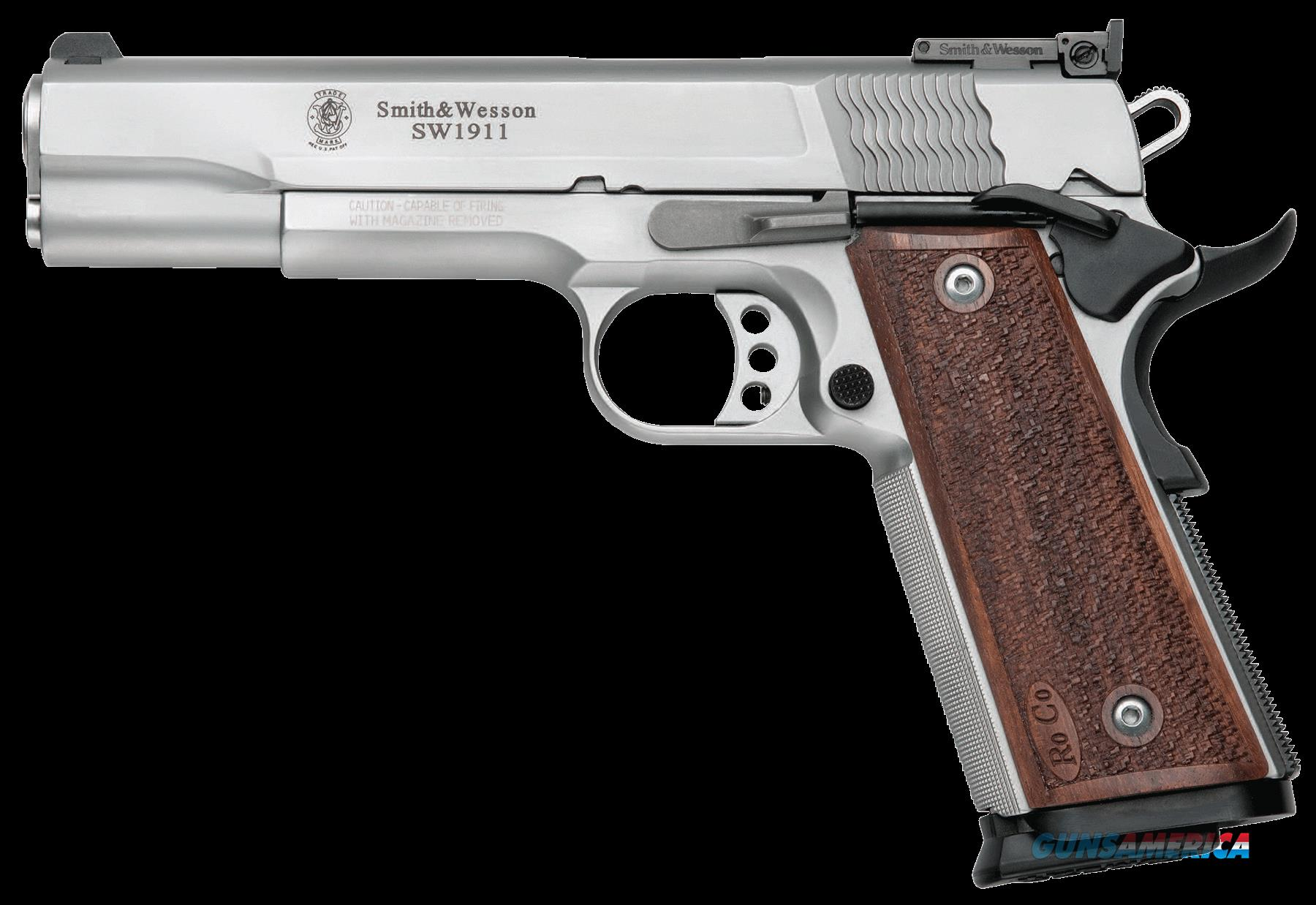 "Smith & Wesson 178047 1911 Pro Single 9mm 5"" 10+1 Wood Grip Stainless  Guns > Pistols > Smith & Wesson Pistols - Autos > Steel Frame"