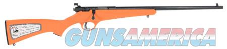 """Savage 13810 Rascal Youth Bolt 22 LR 16.10"""" 1 Orange Fixed Synthetic Stock Blued Carbon Steel  Guns > Rifles > Savage Rifles > Accutrigger Models"""