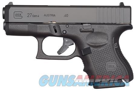 "Glock UG2750201 G27 Gen 4 Subcompact 40 S&W Double 3.42"" 9+1 Black Interchangeable Backstrap Grip  Guns > Pistols > G Misc Pistols"