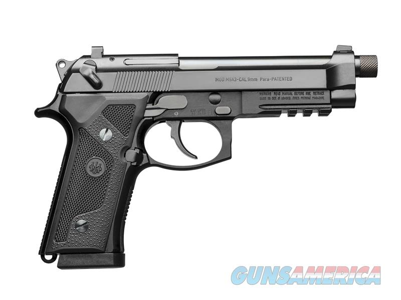 "Beretta USA J92M9A30 M9A3 Italy Type F 9mm Luger Single/Double 5.2"" 10+1 NS Black Polymer Grip Black  Guns > Pistols > Beretta Pistols > M9"