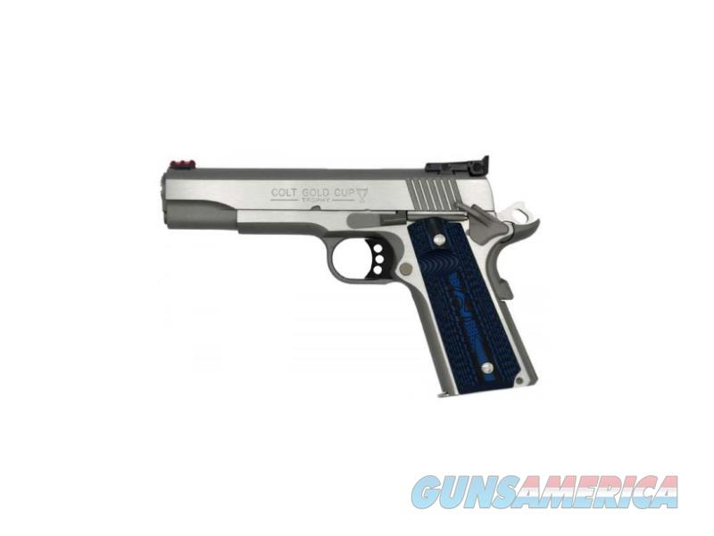Colt Mfg O5073GCL Gold Cup Lite 38 Super Single 5 8+1 Blue G10 Checkered w/Scallop Grip Round Top  Guns > Pistols > C Misc Pistols