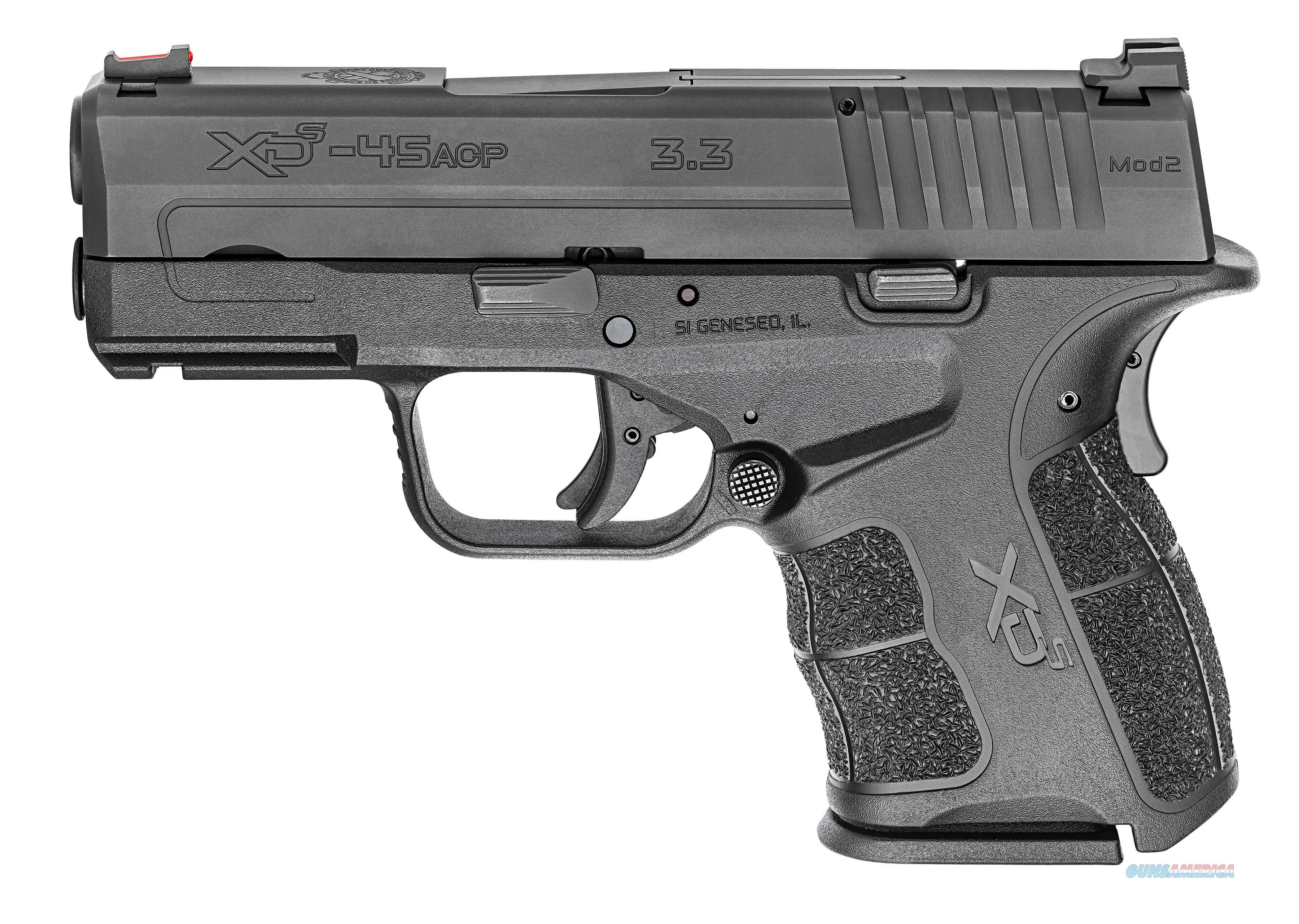 "Springfield Armory XDSG93345BT XD-S Mod.2 45 Automatic Colt Pistol (ACP) Double 3.3"" 5+1/6+1 TNS  Guns > Pistols > Springfield Armory Pistols > XD-S"