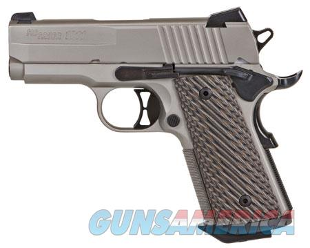 "Sig Sauer 1911UT45NI 1911 Ultra Compact Single 45 Automatic Colt Pistol (ACP) 3.3"" 7+1 Brown G10  Guns > Pistols > Sig - Sauer/Sigarms Pistols > 1911"