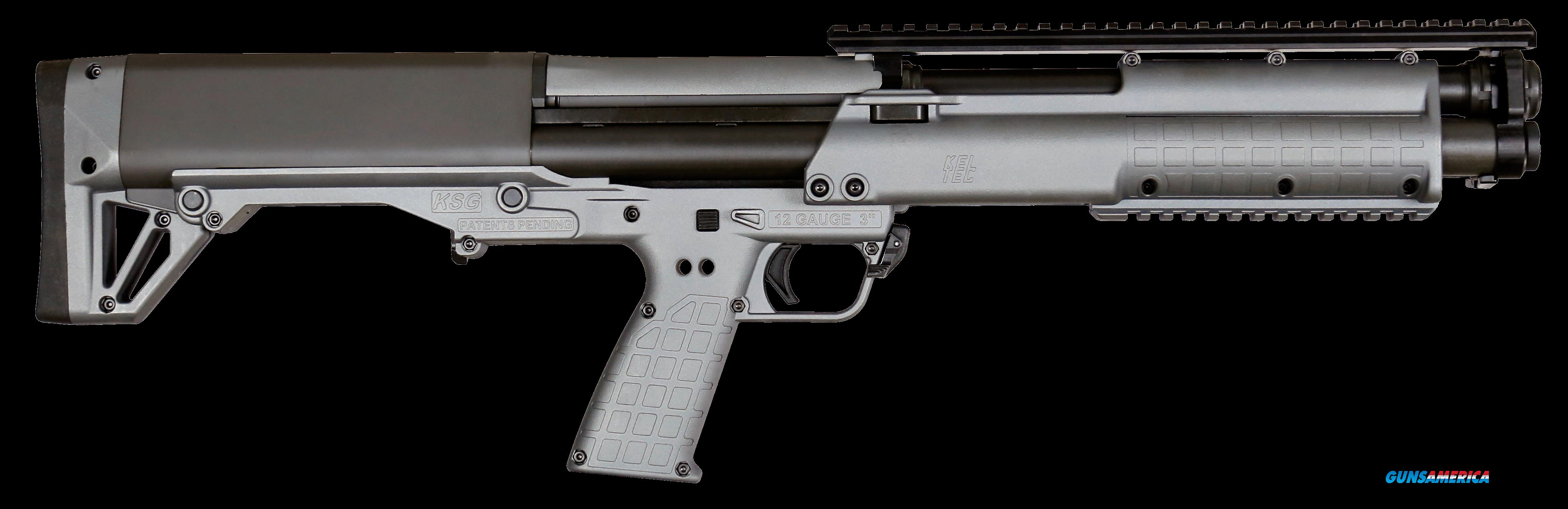 "Kel-Tec KSGGY KSG Pump 12 Gauge 18.5"" 3"" 12+1 Synthetic Gray  Guns > Shotguns > Kel-Tec Shotguns > KSG"
