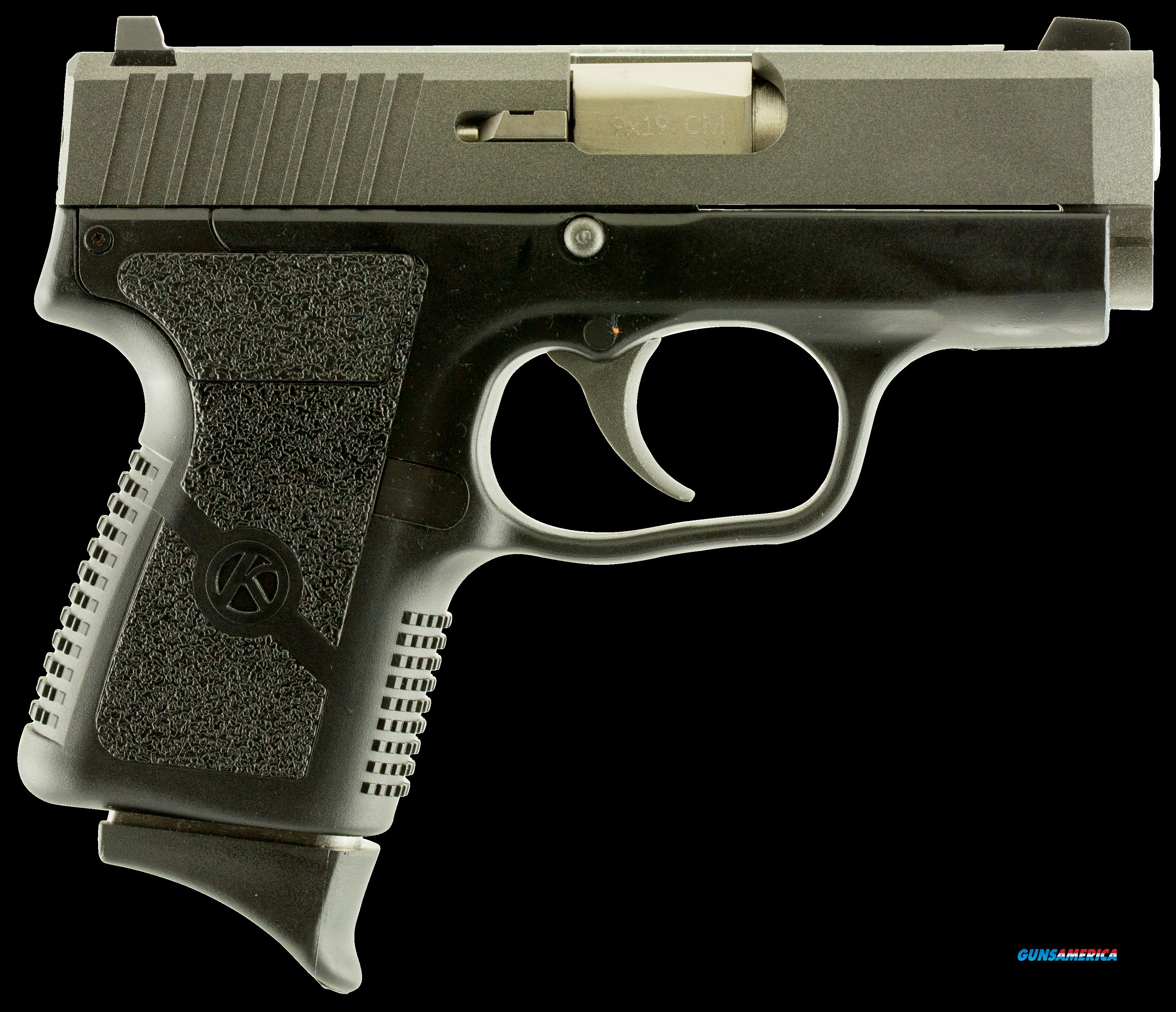 "Kahr Arms CM9093TU3 CM9 Double 9mm 3.1"" 6+1 3-Dot Black Polymer Grip/Frame Tungsten Gray Cerakote  Guns > Pistols > K Misc Pistols"