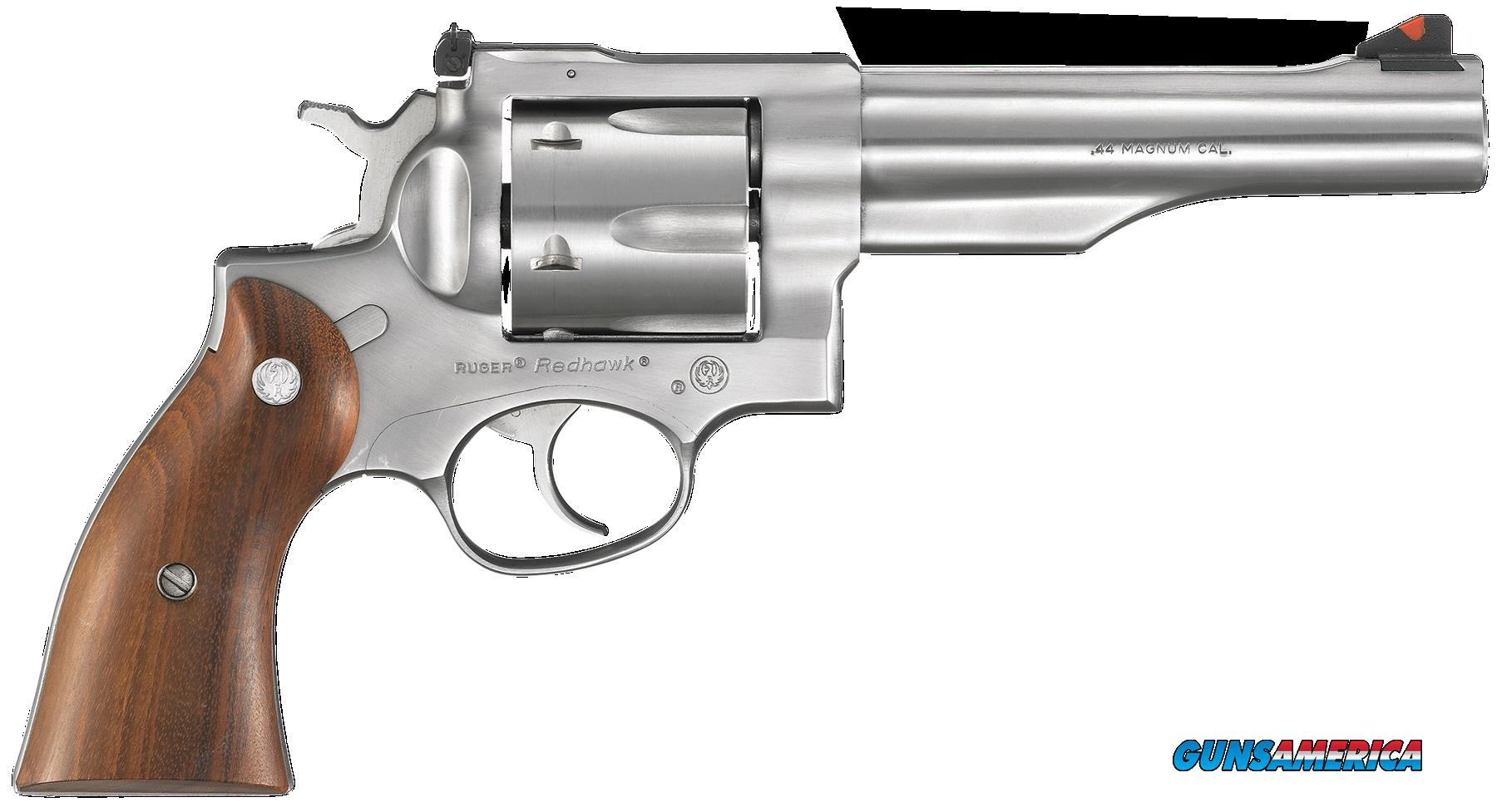 "Ruger 5004 Redhawk Single/Double 44 Remington Magnum 5.5"" 6 rd Hardwood Grip Stainless Steel  Guns > Pistols > Ruger Double Action Revolver > Redhawk Type"