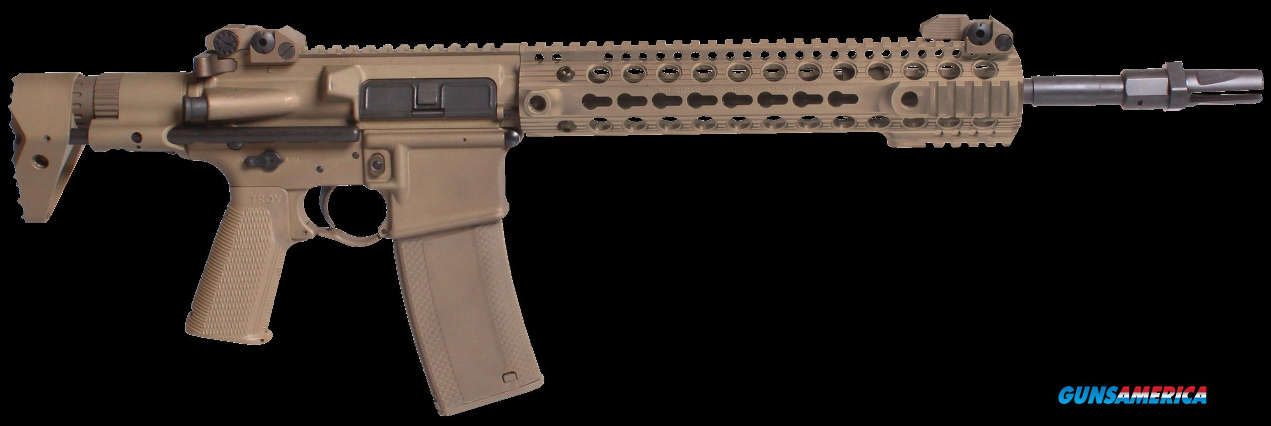 "Troy SCAR7CR14TT M7A1 Carbine SA 223/5.56 14"" 30+1 Troy PDW Collapsible Tan  Guns > Rifles > TU Misc Rifles"
