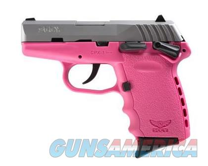 SCCY Industries CPX-1 9MM SS/PINK 10+1 SFTY PINK POLYMER FRAME  Guns > Pistols > S Misc Pistols