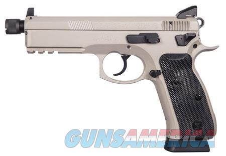 """CZ 01253 CZ 75 SP-01 Tactical 9mm Luger Single/Double 5.20"""" 10+1 Black Rubber Grip Gray Slide  Guns > Pistols > CZ Pistols"""