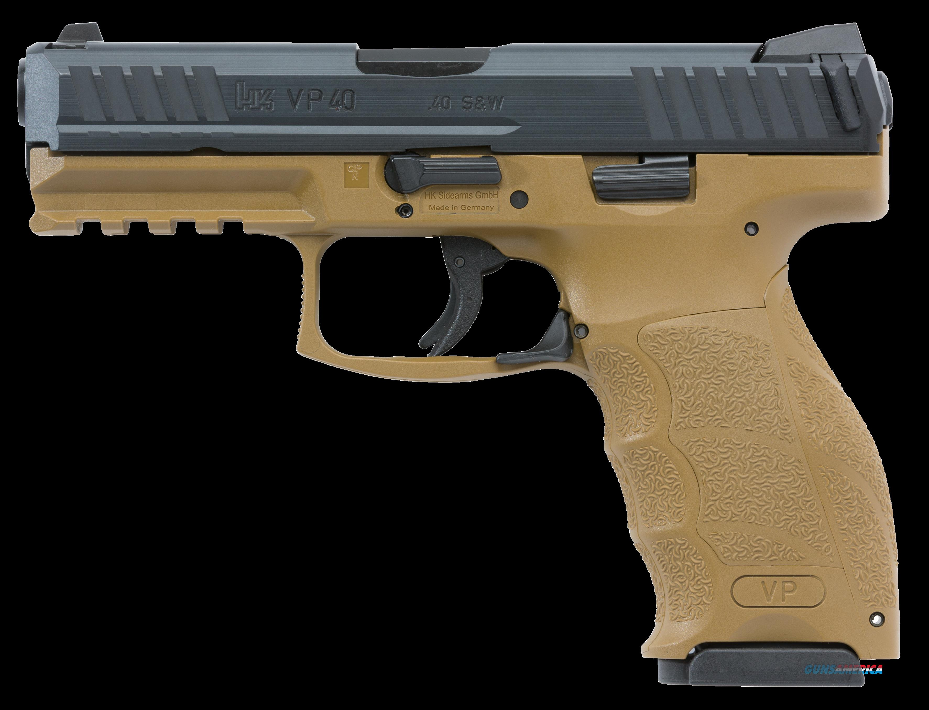 "HK M700040FDEA5 VP40 Double 40 Smith & Wesson (S&W) 4.09"" 13+1 2 Mags FDE Interchangeable Backstrap  Guns > Pistols > H Misc Pistols"
