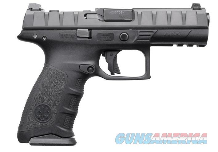 "Beretta USA JAX92070 APX RDO 9mm Luger Double 4.25"" 10+1 Black Interchangeable Backstrap Grip Black  Guns > Pistols > Beretta Pistols > Polymer Frame"