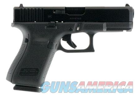 "Glock PA1950203 G19 Gen5 Double 9mm Luger 4.02"" 15+1 FS Black Interchangeable Backstrap Grip Black  Guns > Pistols > G Misc Pistols"
