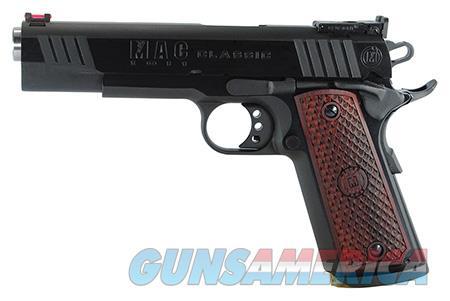 "MAC M19CL45B 1911 Classic 45 ACP Single 5"" 8+1 Hardwood w/MAC Logo Grip Blued Slide  Guns > Pistols > MN Misc Pistols"