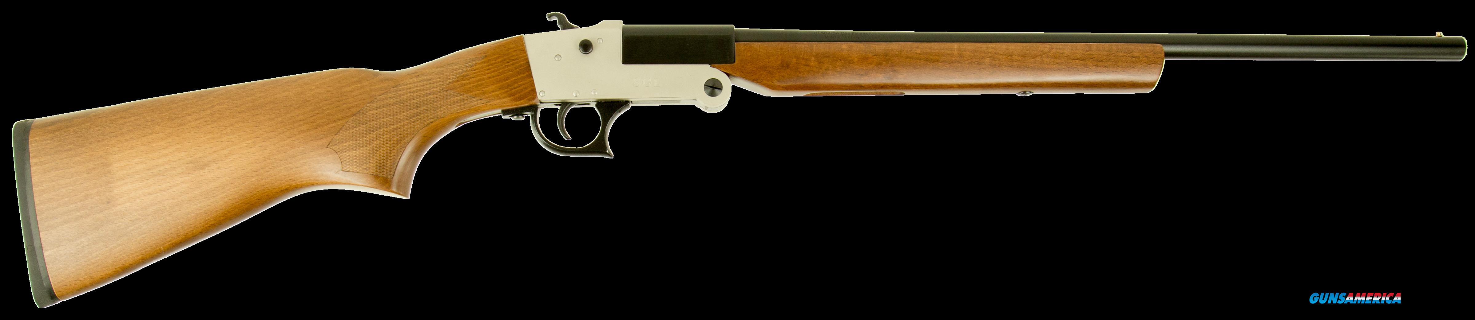 "Hatfield USH410YW SGL Youth Break Open 410 Gauge 20"" 3"" Walnut Stk Silver  Guns > Shotguns > H Misc Shotguns"