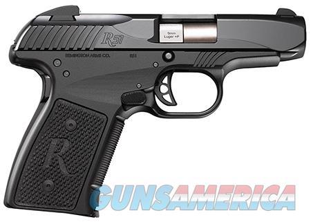 "Remington Firearms 96430 R51 Subcompact  9mm Luger 3.40"" 7+1 Black Hardcoat Anodized Black Stainless  Guns > Pistols > Remington Pistols - Modern"