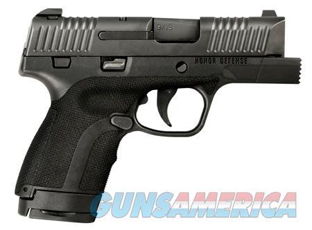 "Honor Defense HG9SCF Honor Guard Sub-Compact FIST Double 9mm +P 3.2"" 7+1/8+1 Blk Polymer Grip Black  Guns > Pistols > Honor Defense Pistols"