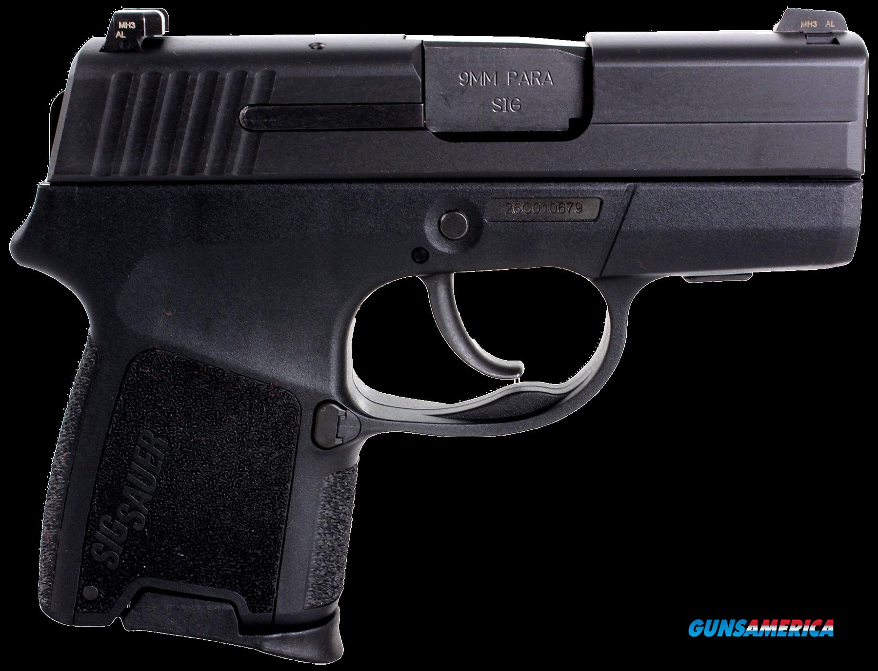 "Sig Sauer 290RS9BSS P290 Standard 9mm 2.9"" 6+1/8+1 Changeable Poly Grip Black  Guns > Pistols > S Misc Pistols"