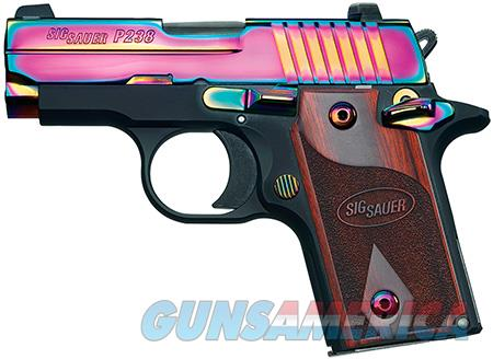 "Sig Sauer 238380RBT P238 Micro-Compact Rainbow  380 ACP 2.70"" 6+1 Black Hardcoat Anodized Rainbow  Guns > Pistols > Sig - Sauer/Sigarms Pistols > P238"