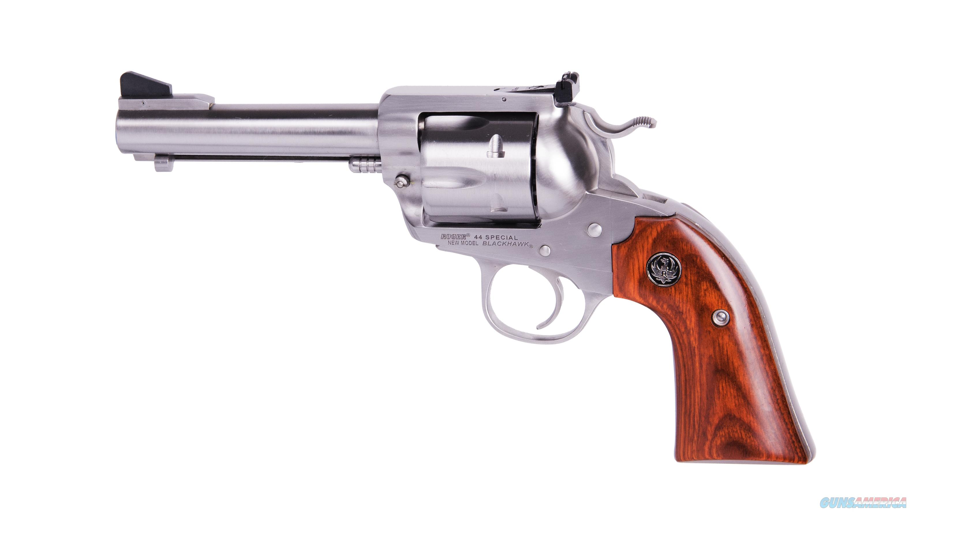 Ruger BISLEY FLATTOP 44SPC 4-5/8 SS 5249  WOOD GRIPS/ADJ SIGHTS  Guns > Pistols > Ruger Single Action Revolvers > Cowboy Action