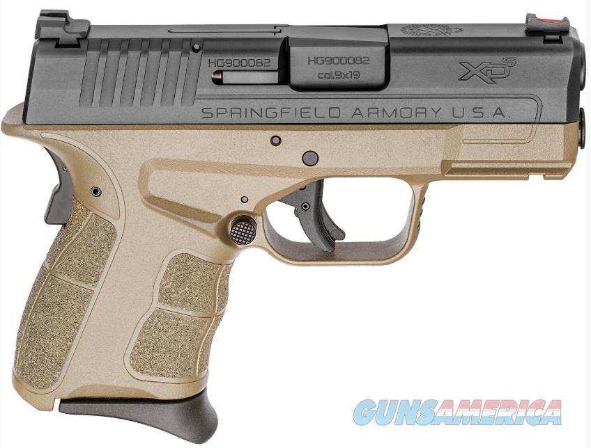 "Springfield Armory XDSG9339FDE XD-S Mod.2  9mm Luger Double 3.3"" 7+1 Black Polymer Grip Flat Dark  Guns > Pistols > S Misc Pistols"