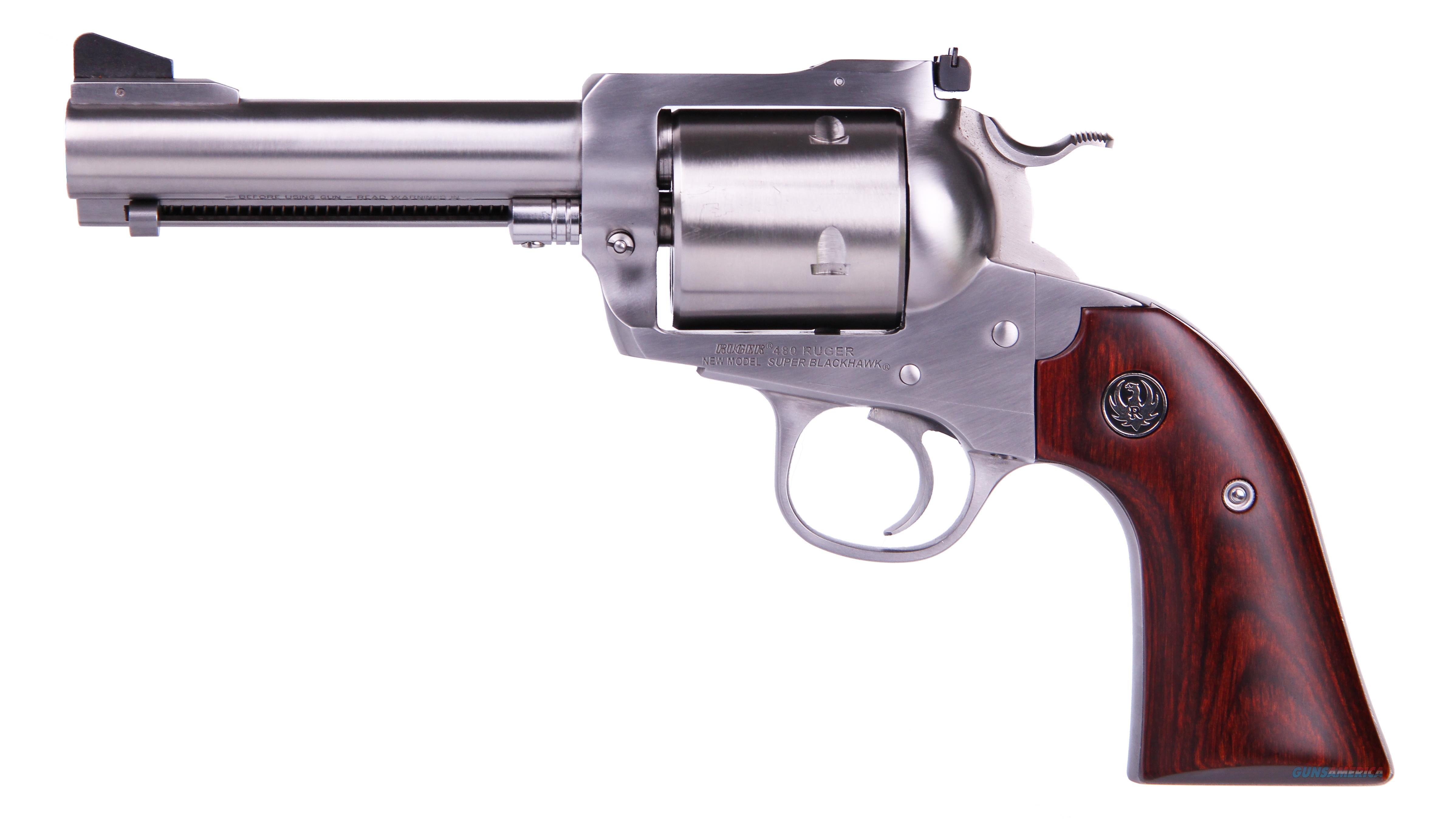 Ruger BISLEY 480RUG SS 4-5/8 5SH AS 0872 WOOD GRIPS/UNFLUTED CYL  Guns > Pistols > Ruger Single Action Revolvers > Cowboy Action