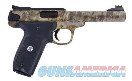 "Smith & Wesson 10297 SW22 Victory  22 Long Rifle (LR) Single 5.5"" 10+1 Black Polymer Grip Kryptek  Guns > Rifles > Smith & Wesson Rifles > M&P"