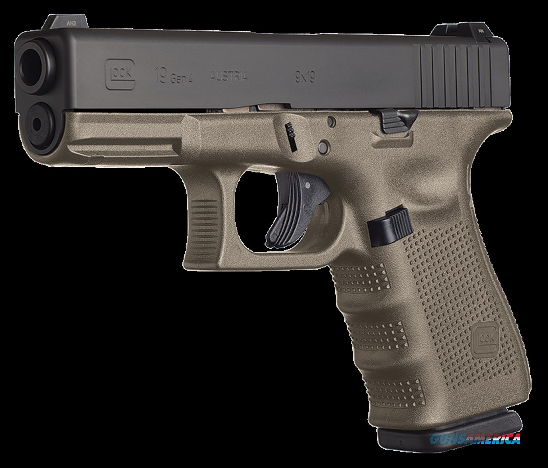 Glock 10 + 1 Round Double Action Only 9MM w/Fixed Sights & Olive Drab Finish  Guns > Pistols > G Misc Pistols