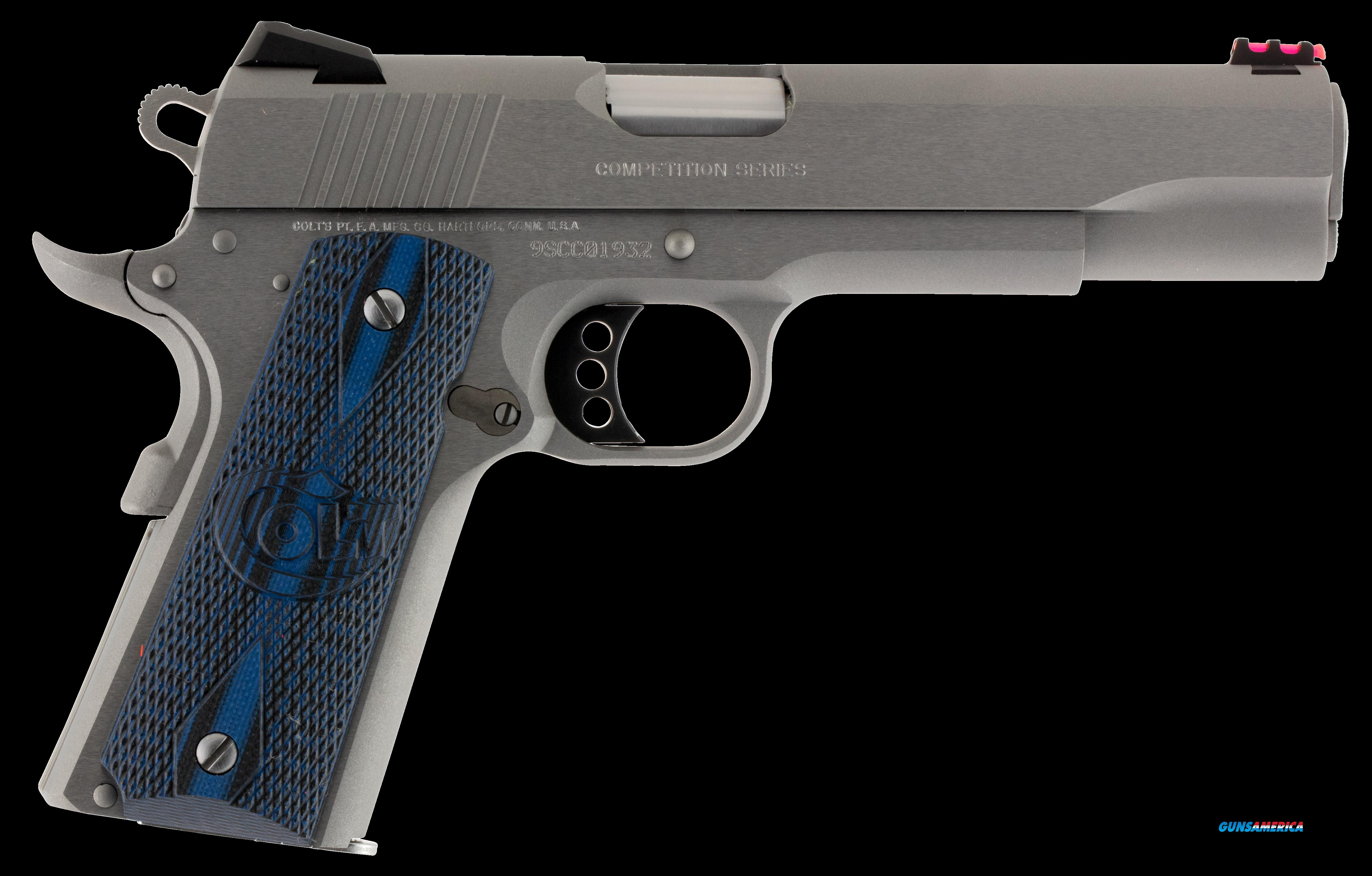"Colt Mfg O1072CCS 1911 Competition 70 Series Single 9mm Luger 5"" 9+1 Blue G10 w/Logo Grip Stainless  Guns > Pistols > C Misc Pistols"