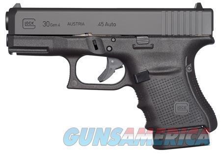 "Glock UG3050201 G30 Gen 4  Subcompact 45 ACP Double 3.77"" 10+1 Black Interchangeable Backstrap Grip  Guns > Pistols > G Misc Pistols"