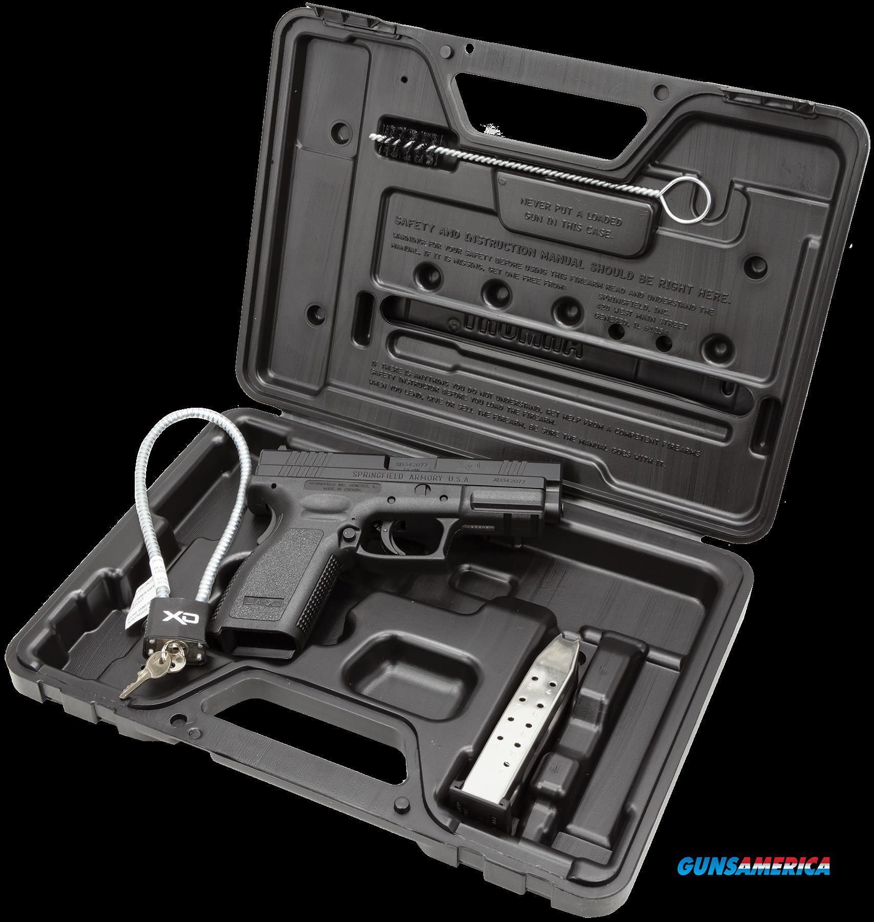 "Springfield XD9102HC XD Essential Package DAO 40S&W 4"" 12+1 Poly Grip/Frame Blk  Guns > Pistols > S Misc Pistols"