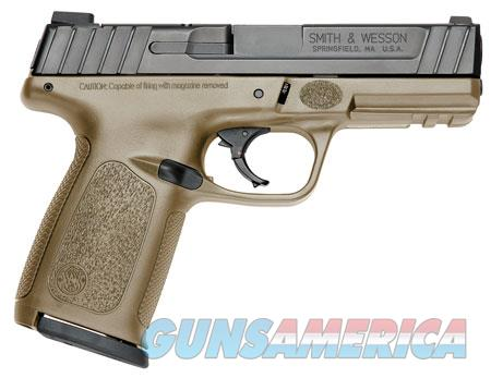 """Smith & Wesson 11998 SD 9  9mm Luger Double 4"""" 16+1 Flat Dark Earth Polymer Grip/Frame Black  Guns > Pistols > S Misc Pistols"""