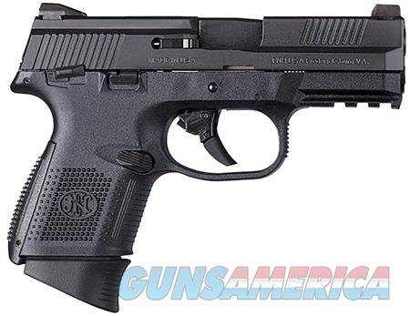 """FN 66770 FNS Compact 9mm Luger 3.60"""" 12+1/17+1 MS Black Stainless Steel Interchangeable Backstrap  Guns > Pistols > FNH - Fabrique Nationale (FN) Pistols > FNS"""