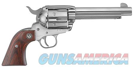 "Ruger 5105 Vaquero   45 Colt (LC) 4.62"" 6 Round Rosewood Grip Stainless Steel  Guns > Pistols > Ruger Single Action Revolvers > Cowboy Action"