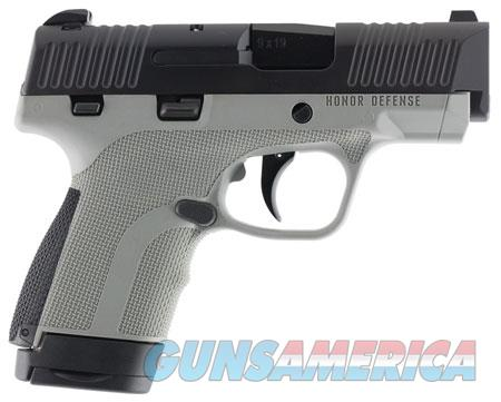"Honor Defense HG9SCMSGRA Honor Guard Sub-Compact 9mm Luger Double 3.20"" 7+1 & 8+1 Gray  Guns > Pistols > H Misc Pistols"