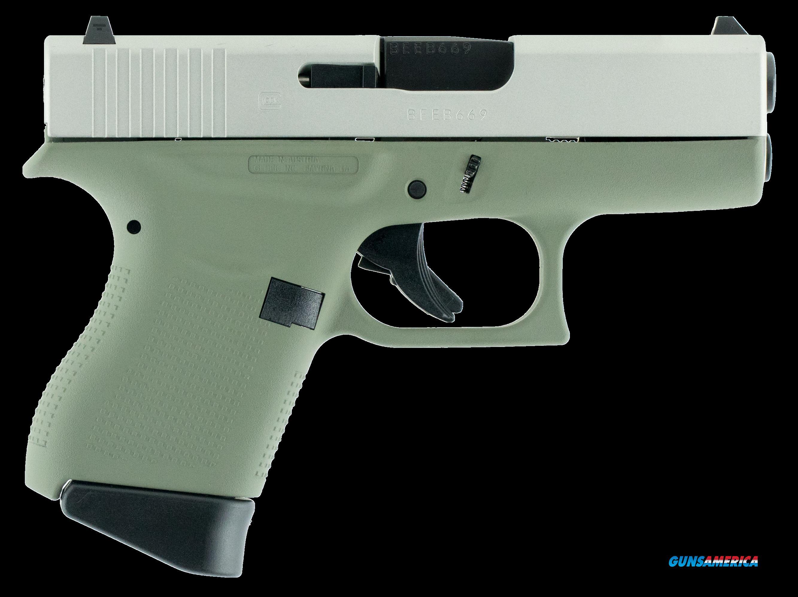 "Glock PI4350201 G43 Subcompact Double 9mm Luger 3.39"" 6+1 Forest Green Polymer Grip/Frame Grip  Guns > Pistols > G Misc Pistols"