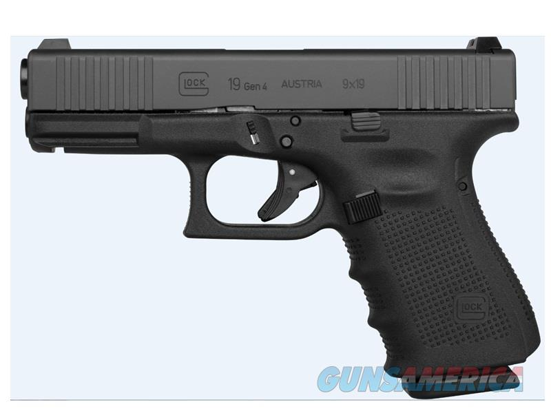 GLOCK G19 G4 9MM 15+1 FRONT SERRATED STEEL SIGHTS|EXTENDED CONTROLS  Guns > Pistols > G Misc Pistols
