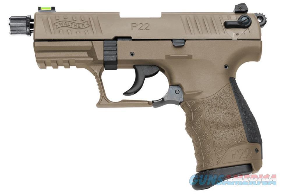 "Walther Arms 5120553 P22 QD Single/Double 22 Long Rifle (LR) 3.42"" TB 10+1Black Interchangeable  Guns > Pistols > W Misc Pistols"