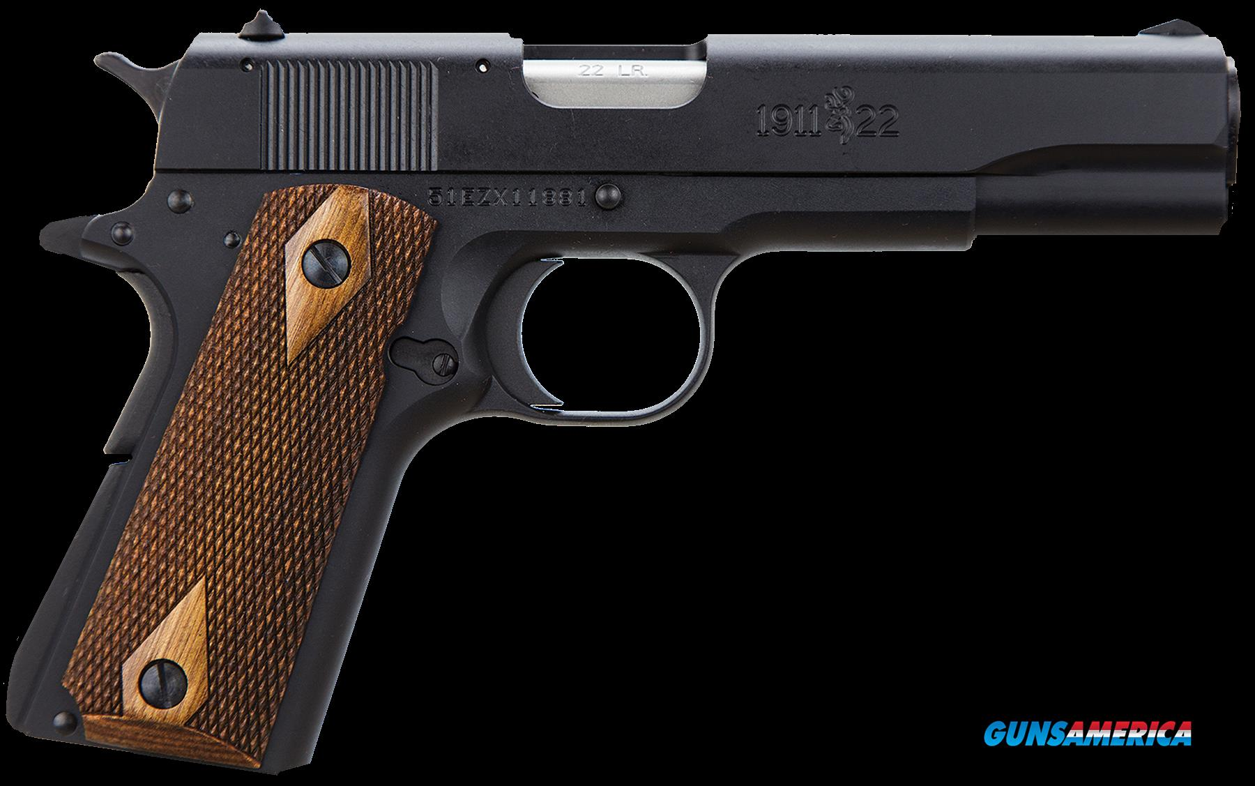 "Browning 051802490 1911-22 A1 *CA Comp* 22LR 4.25"" 10+1 Brown Comp Grip Blued  Guns > Pistols > B Misc Pistols"