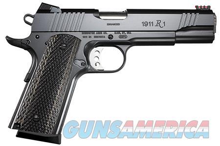 "Remington Firearms 96359 1911 R1 Enhanced Commander 45 ACP Single 4.30"" 8+1 Laminate Wood Grip Black  Guns > Pistols > Remington Pistols - Modern > 1911"
